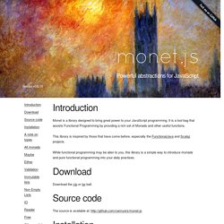 monet.js - Powerful abstractions for JavaScript