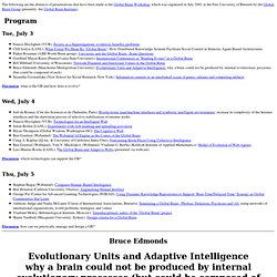 Abstracts of presentations-Global Brain Workshop