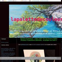vidéo 1457: Un clin d'oeil à Pablo Picasso ( la peinture abstraite - acrylique sur toile ). - lapalettedecouleurs