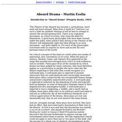 Absurd Drama - Martin Esslin