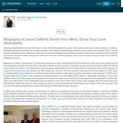 Biography of Jason Safford: Green Your Mind, Grow Your Love Abundantly: jasonsafford