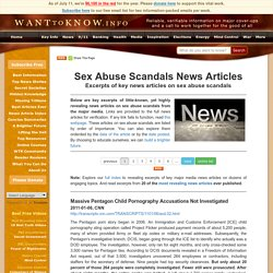 Sex Abuse Scandals News Articles