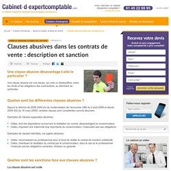 Clauses abusives dans les contrats de vente : description et sanction