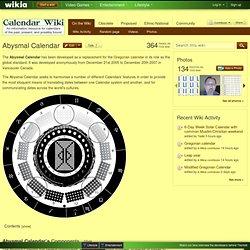 TheAbysmal Calendar - Calendar Wiki
