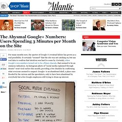 The Abysmal Google+ Numbers: Users Spending 3 Minutes per Month on the Site - Rebecca J. Rosen - Technology