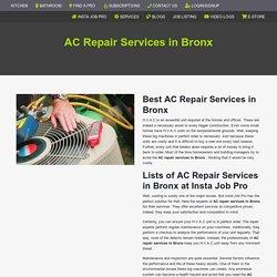 Ac Repair Services in Bronx
