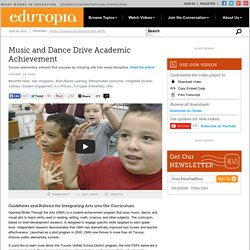 Music and Dance Drive Academic Achievement