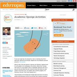 Academic Sponge Activities