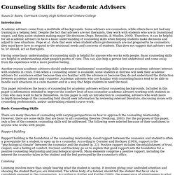 The Mentor: An Academic Advising Journal