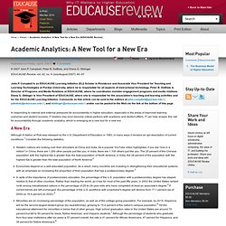 Academic Analytics: A New Tool for a New Era | EDUCAUSE CONNECT