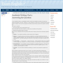 IELTS Academic Writing: Part 2 - Answering the Question