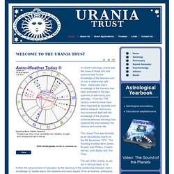 WELCOME TO THE URANIA TRUST