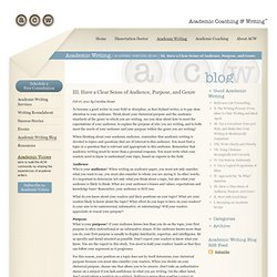 Academic Coaching & Writing