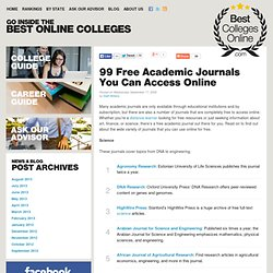 100 Free Academic Journals You Can Access Online