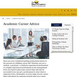 Academic Career Advice - The Daily Campus