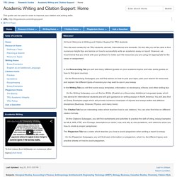 Home - Academic Writing and Citation Support - Research Guides at Thompson Rivers University Library