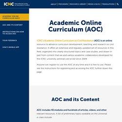 Academic Online Curriculum on Civil Resistance