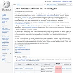 List of academic databases and search engines - Wikipedia, the f