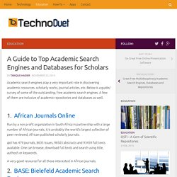A Guide to Top Academic Search Engines and Databases for Scholars