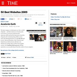 Academic Earth - 50 Best Websites 2009
