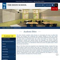 Academic Ethos - Academic Life