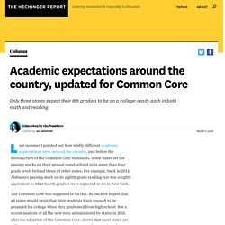 Academic expectations around the country, updated for Common Core
