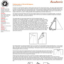 BOS academic : Folding angles of 30 and 60 degrees