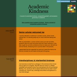 Academic Kindness