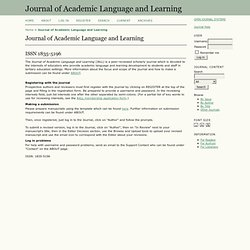 Journal of Academic Language and Learning