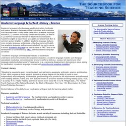 Academic Language - Science