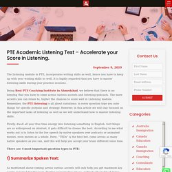 PTE Academic Listening Test - Accelerate your Score in Listening. - Aspire Square