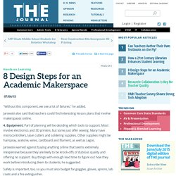 8 Design Steps for an Academic Makerspace