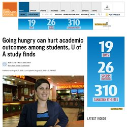 Going hungry can hurt academic outcomes among students, U of A study finds