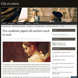 Five academic papers all teachers need to read