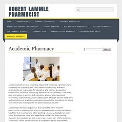 Academic Pharmacy - Robert Lammle Pharmacist