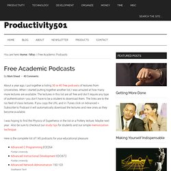 Productive Strategies: Free Academic Podcasts