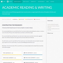 Academic reading & writing