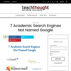 7 Academic Search Engines Not Named Google