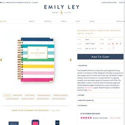 Academic Daily Simplified Planner, Happy Stripe – Emily Ley