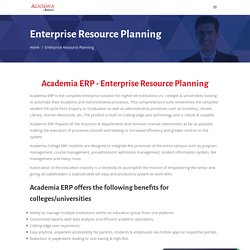 Academic ERP Software for Colleges & Universities