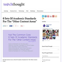 "6 Sets Of Academic Standards For The ""Other Content Areas"""