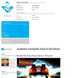 Academic standards: back to the future - Wonkhe