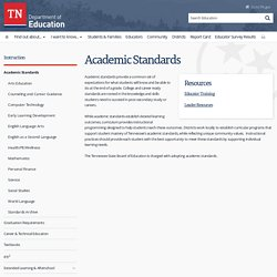Academic Standards - TN.Gov