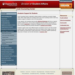 Academic Support for Students | Cook Counseling Center | Virginia Tech