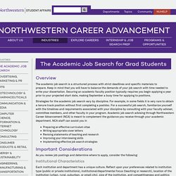 The Academic Job Search for Grad Students :