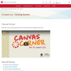 CI Learn 2.0 - Getting Started - Academic Technology Services (ATS) - CSU Channel Islands