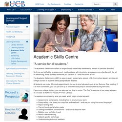 Academic Skills Centre - University College Birmingham