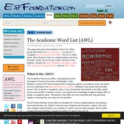 Academic Word Lists