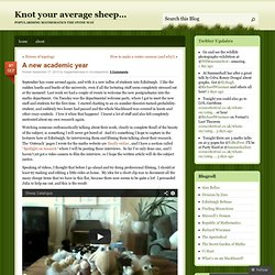 A new academic year « Knot your average sheep…