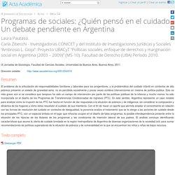 ¿Quién pensó en el cuidado? Un debate pendiente en Argentina